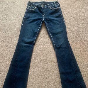 Size 29 True Religion Joey Low Rose Flare jeans